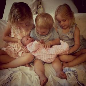 Emmeline Nicka with her siblings