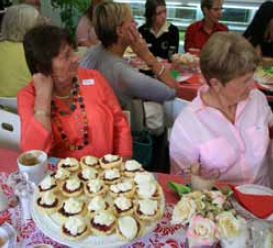 Ladies enjoying our International Women's Day lunch