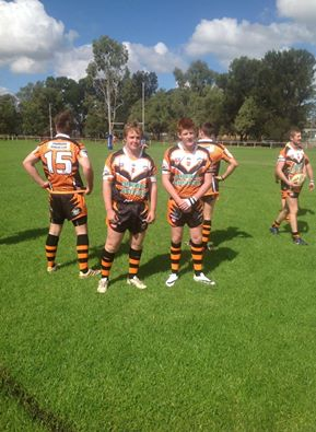 Canowindra Boys getting ready for the game against Trundle