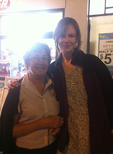 Gwen Campbell with Nicole Kidman