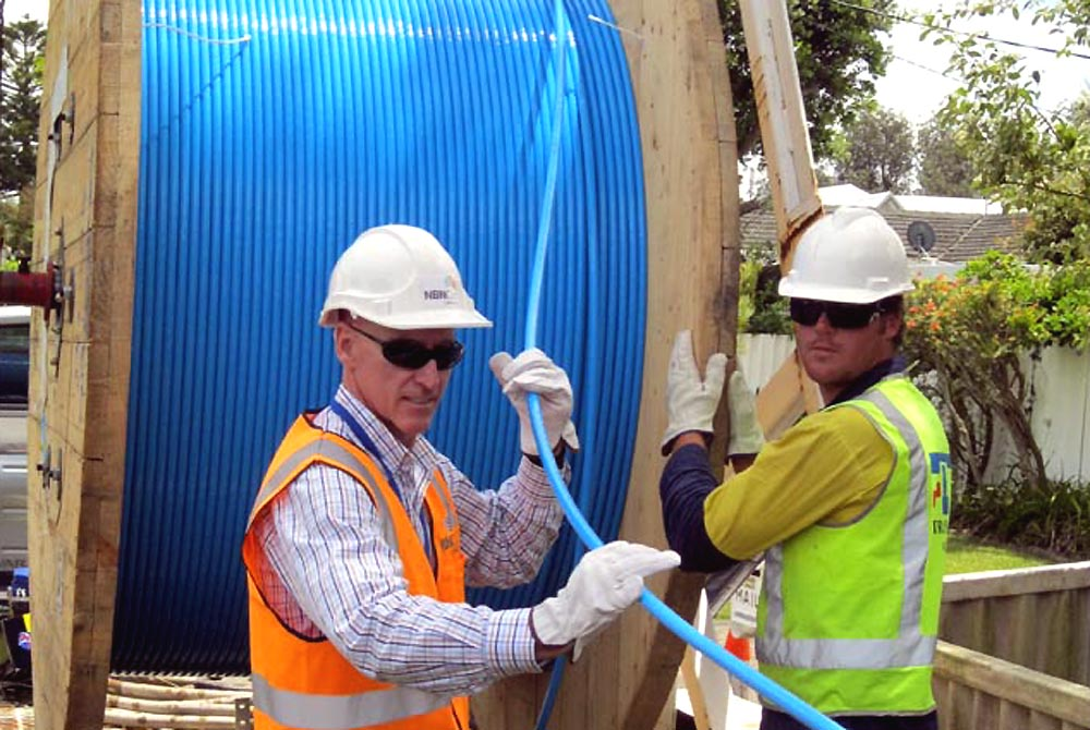 NBN crew working on the rollout