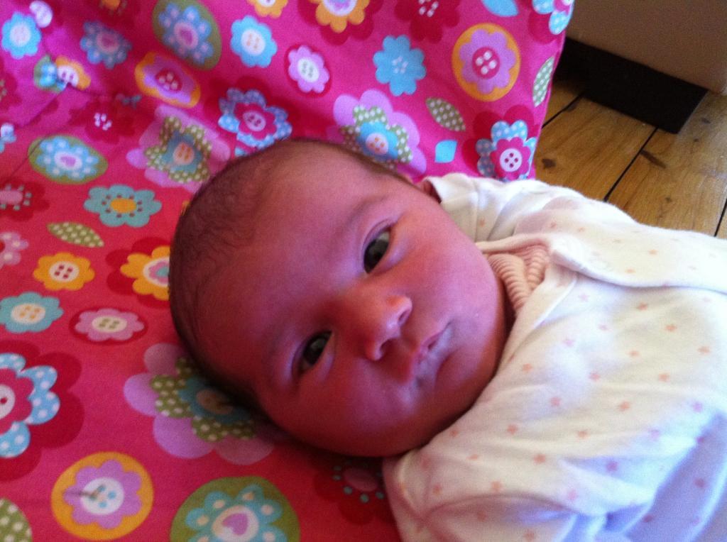 newborn, Ruby Harris.