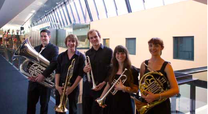 IMAGE: some of the students with their instruments