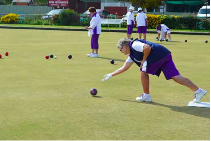 Nancy Morrow in good form at Ladies Bowls