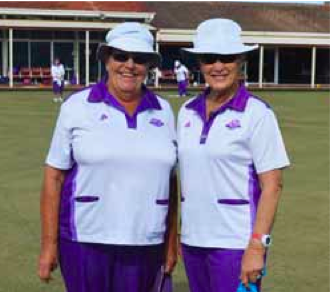 Chrisitne Pickard and Sandy McDonald playing Minor Singles