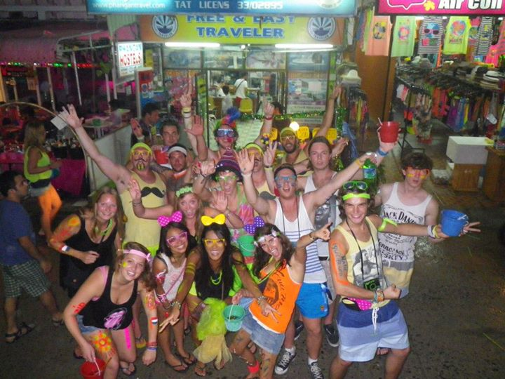 Full Moon Party in Koh Phangan, Thailand.