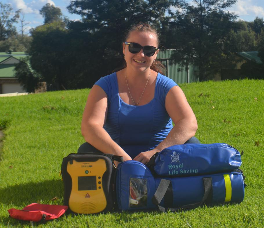 Lisa Cartwright with the new life saving equipment
