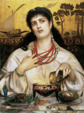 Medea mixing a potion to kill the princess who stole her husband.