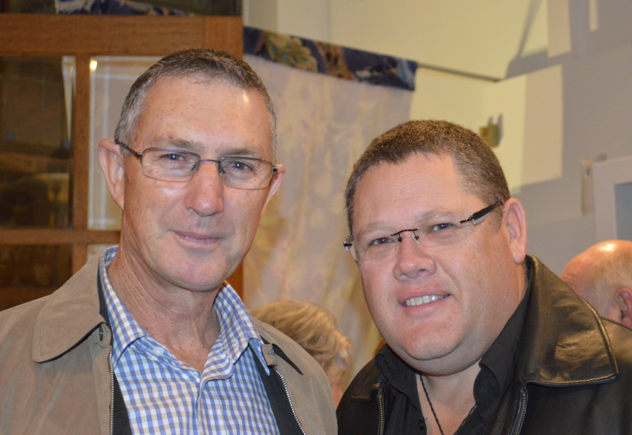 Graham Rice with Gary Murphy at the K & H Interiors opeining