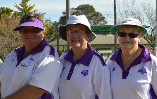 Heather, Margaret and Nancy winners of District Triples Championship