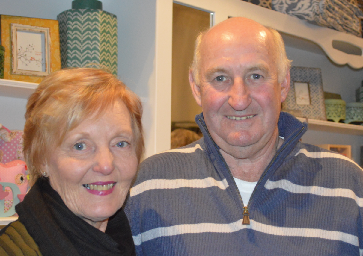 Jeanette and Toby Newcombe at the K & H Interiors opening