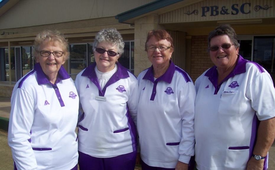 The winning team was (from left in photo) Marion Wilson, Nancy Morrow, Margaret Gosper and Heather Hoad.