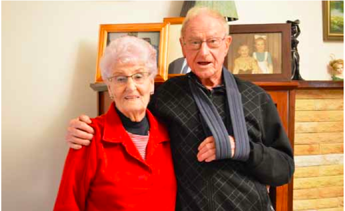 Peggy and Ron Lynch still in love 72 years on