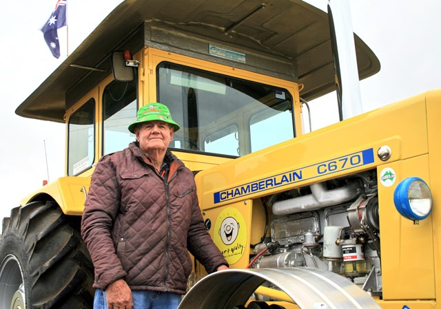 Roy White and His Tractor
