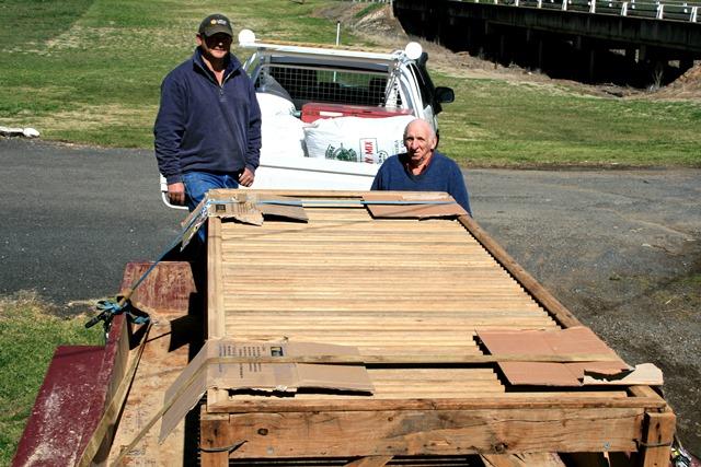 rebuilt wool table