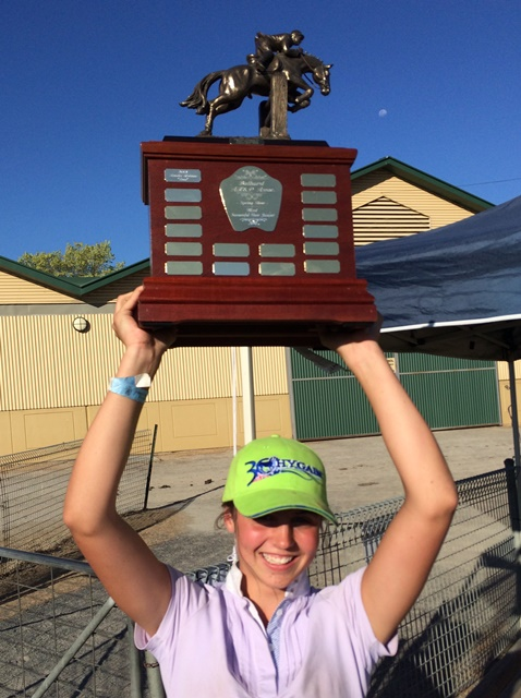 Amelia and her trophy