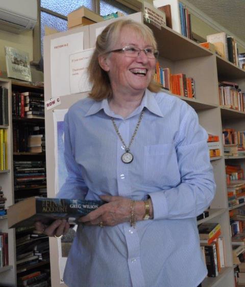 Mum in her shop (Virginia Cullane) - cropped