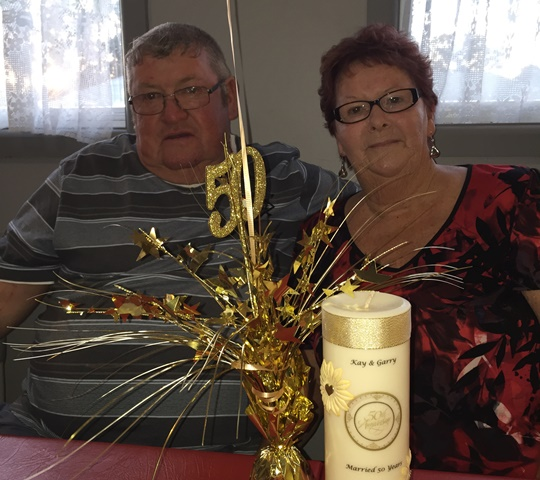 kay and gary mcclintock celebrate 50 years together