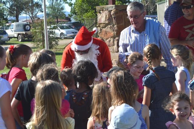 Santa made an appearance