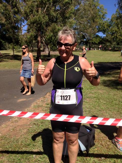 Sally at the end of the race