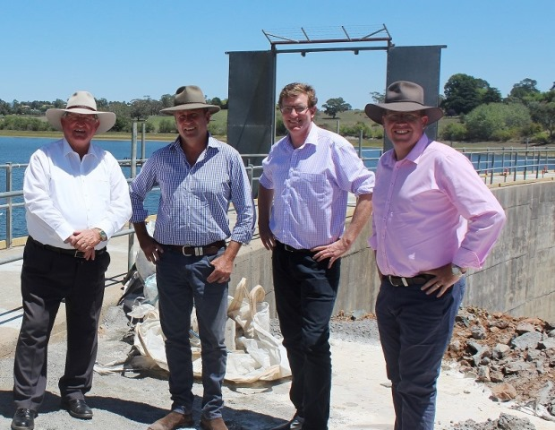 Troy Grant Andrew Gee and Kevin Humphries were among those who approved of the dam site