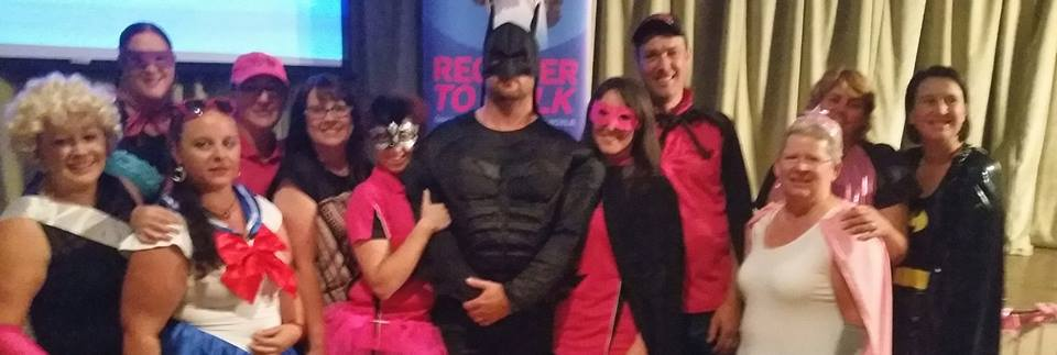 Some of the superheroes that attended the Trivia Night