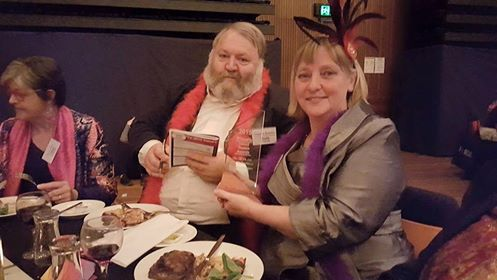 Alison and Graeme with the Award