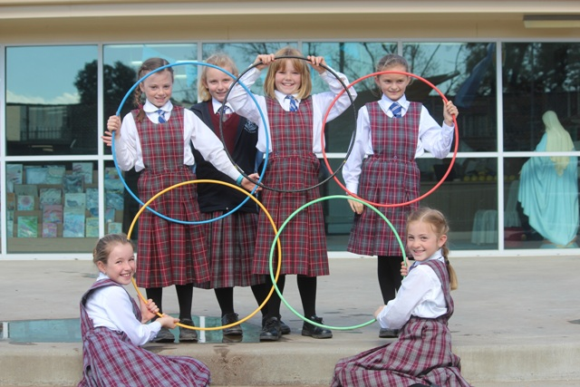 Olympic Girls with new hoops