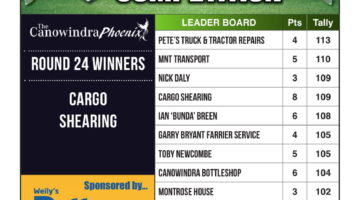 Footy Tipping Results – Round 24