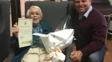 Milestone 100th Birthday For Cecille
